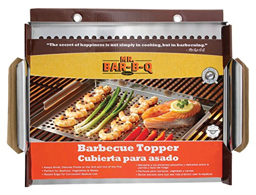 "Mr. Bar-B-Q Stainless Steel Grill Topper, 18"" x 12"