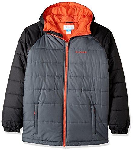 (Columbia Boys' Little Tree Time Puffer Jacket, Graphite, Black, XX-Small)