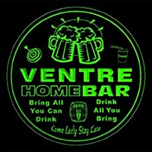 4x ccq46777-g VENTRE Family Name Home Bar Pub Beer Club Gift 3D Engraved Coasters