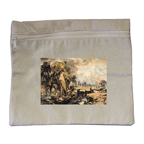 Dedham Lock (Constable) Canvas Zippered Pouch Makeup Bag
