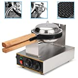 Seeutek Eggettes Bubble Puff Waffle Maker Electric Stainless Steel Non Stick Pan Egg Puff Grill Machine 110V