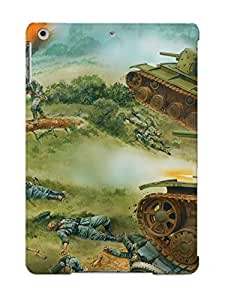 Ipad High Quality Tpu Case/ Art Painting Bale War Warriors Soldiers Tanks Landscapes TjmtUIw1017worpN Case Cover For Ipad Air
