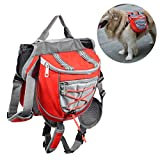 Petacc Lightweight Dog Backpack Portable Pet Saddle Bag Dog Knapsack, Suitable for Walking, Hiking and Other Outdoor Activities