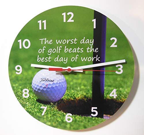 (Golf and Work Quote Clock. 10