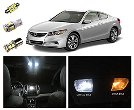 2003 2012 Honda Accord LED Package Interior + Tag + Reverse Lights (10  Pieces
