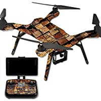 MightySkins Protective Vinyl Skin Decal for 3DR Solo Drone Quadcopter wrap cover sticker skins Stacked Wood