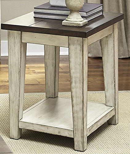 - Liberty Furniture INDUSTRIES 612-OT1021 Lancaster Chair Side Chairside Table, 18