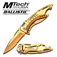 """MTech Ballistic """"Midas Touch""""- Pocket Knife Gold Couteau Ouverture rapide # MT-A705GD"""