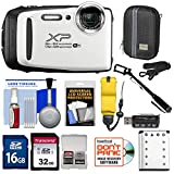 Cheap Fujifilm FinePix XP130 Shock & Waterproof Wi-Fi Digital Camera (White) with 32GB Card + Battery + Cases + Float Strap + Selfie Stick + Kit