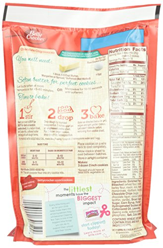 Betty Crocker Cookie Mix, Chocolate Chip, 17.5 oz Pouch (Pack of 12) by Betty Crocker (Image #3)