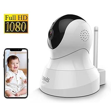 Tenvis IP Cámara WiFi 1080P, Cámara de Vigilancia IR Vision Nocturna Audio Bidireccional, Detección