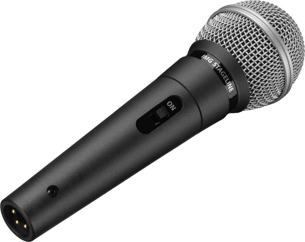vis dadaptateur et Sac de Microphone Noir amplificateur Vocal avec caract/éristique Super-cardio/ïde avec Support pour Microphone Voix et Chant IMG Stageline DM-3S Microphone Dynamique pour sc/ène