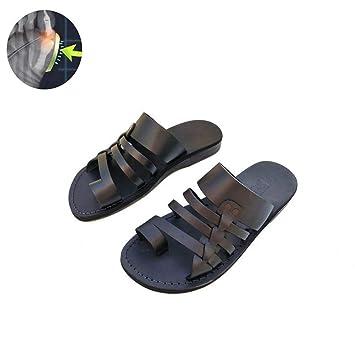 MOIMK Zapatos de Cuero Artificial de los Hombres Zapatos de corrección Casuales Suaves del Dedo Gordo