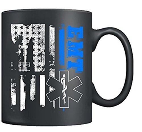 - EMT Coffee Mug - I'm A EMT Mugs, Flag Tea Cups Ceramic 11 oz Black, Best Gifts For Men, Women (Black)