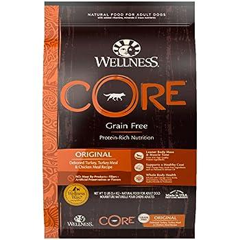 Wellness CORE Natural Grain Free Dry Dog Food, Original Turkey & Chicken, 12-Pound Bag