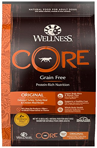 Wellness CORE Natural Grain Free Dry Dog Food, Original Turkey & Chicken, 12-Pound Bag For Sale