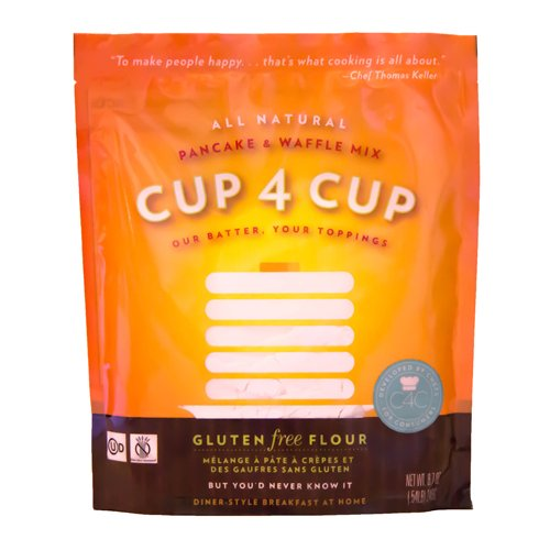 Cup 4 Cup - Gluten Free Pancake/Waffle Mix - 25 Lb Bag by Cup 4 Cup