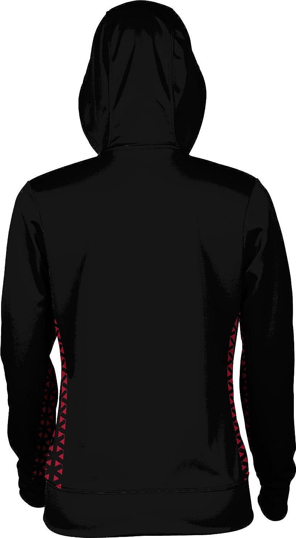 School Spirit Sweatshirt Geometric San Diego State University Girls Zipper Hoodie