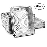 Aluminum Half Size Deep Steam Table Disposable 9x13 Foil Pans with Lids Pack of 50 Safe for Use inOven,Freezer,Cooking, Baking,