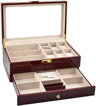 Liuxiaomiao Cajas para Relojes Vidrios de Reloj Caja de múltiples Funciones Doble de Almacenamiento Caja de presentación Caja de Regalo de la joyería del Aerosol para Tienda en casa: Amazon.es: Hogar