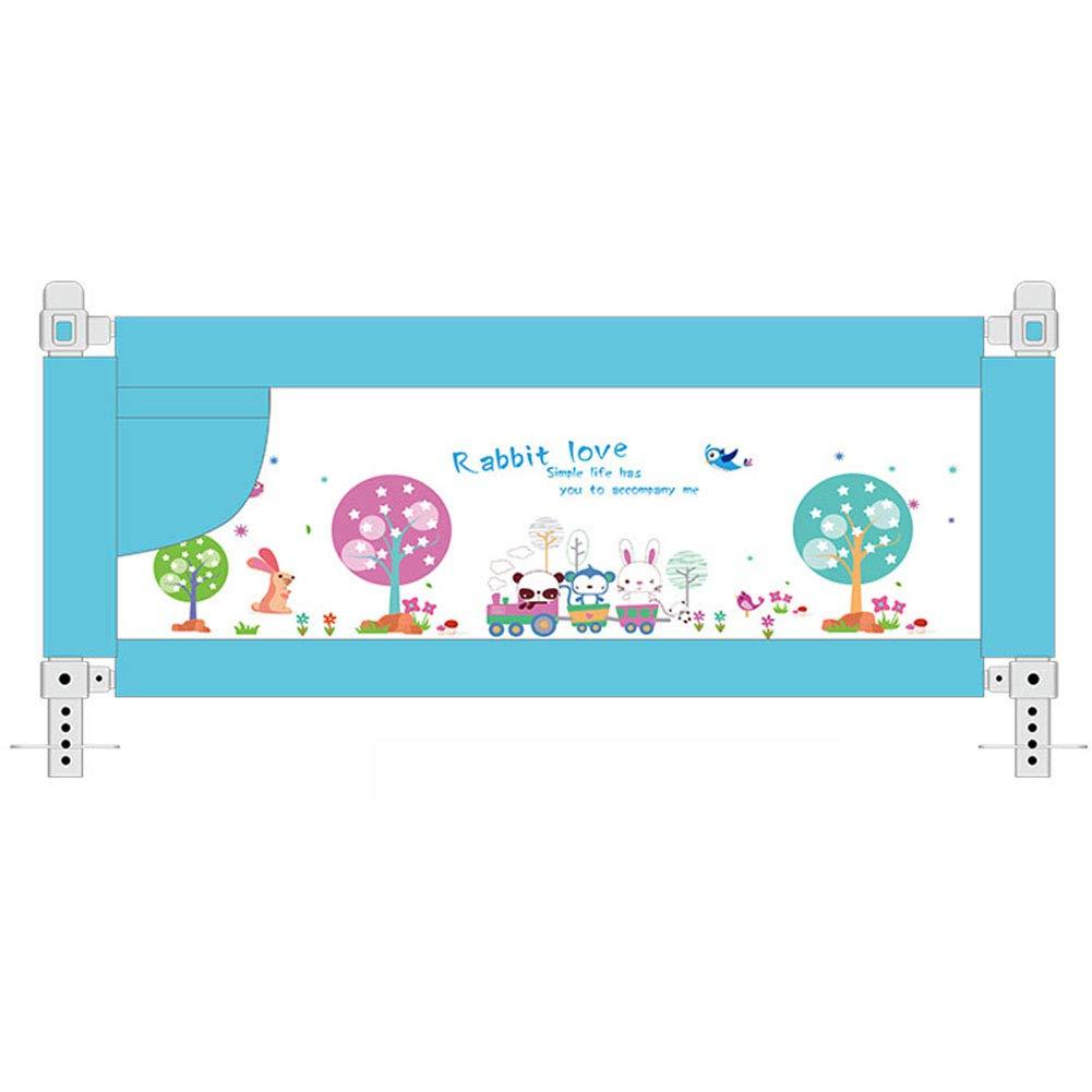 ベッドガードベッドレール幼児の安全チャイルドベッドガードベビー折りたたみメッシュレール、大150-200センチメートル、青 (サイズ さいず : 2 m) 2 m  B07G4VGZ5G