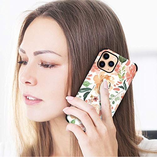 CUSTYPE Case for iPhone 11 Pro Max Case, iPhone 11 Pro Max Case Floral Girls Women Paeonia Lactiflora Flower Design Soft Flexible TPU Shockproof Bumper Protective Cover for iPhone 11 Pro Max 6.5''