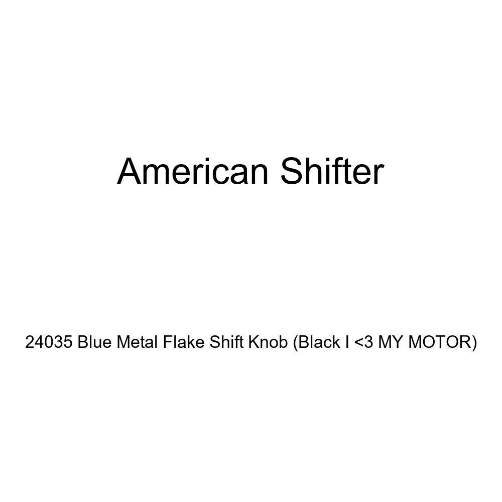 Black I 3 My Motor American Shifter 24035 Blue Metal Flake Shift Knob