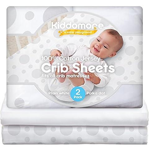 2 Pack Baby Crib Sheets | 100% Cotton Nursery Sheet Set | Soft Bedding For Infant Boys & Girls