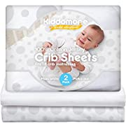 Super Sale Premium 2 Pack Baby Crib Sheets | 100% Cotton Jersey Nursery Sheet Set | Soft Bedding for Infant Boys & Girls