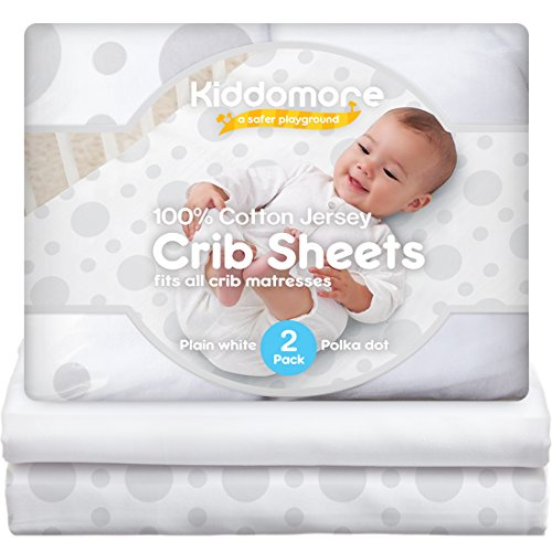 2 Pack Baby Crib Sheets | 100% Cotton Nursery Sheet Set | Soft Bedding For Infant Boys & - Sheet Flat Crib