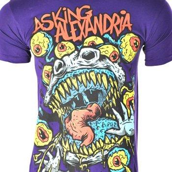 Asking Alexandria Eyeballs T Shirt (Violett) - Large