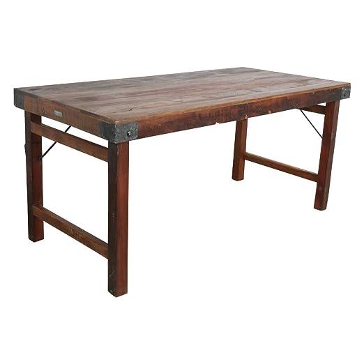 STUFF Loft Vintage - Mesa de Comedor Plegable de Madera Envejecida ...