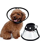 Amakunft Recovery Dog Cat Cone E-Collar, Protect Dog From Touching Stitches, Adjustable Pet Cone E-Collar for Cats and Dogs
