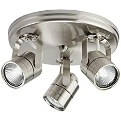 Lithonia Lighting LTKMSBK MR16GU10 3R BN M4 Mesh Back 3-Light Brushed Nickel Round Track Kit