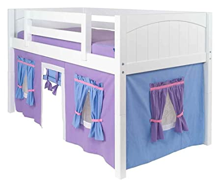 Childrens Low Loft Bed Curtain W Adhesive Velcro Attachments Amazon