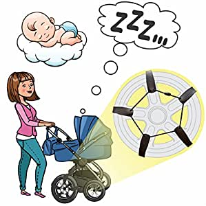 """Sleepy Stroll Baby Sleep Soother, Stroller Tire Straps Producing Soothing Bumps When Rolled On To Help Your Baby Soothe and Fall Asleep Faster, Helps With Colic, Teething, Bellyache, Fits 15-19"""""""