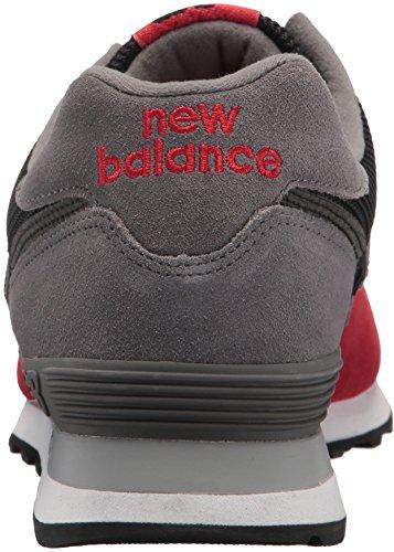 Nuovo Equilibrio Mens 574 Serpent Luxe Sneaker Nero Con Squadra Rossa