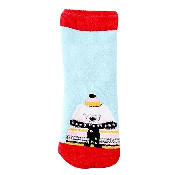 Xiahbong Niños de gamuza calcetines regalo de Navidad antideslizante caliente calcetines (1-2 años
