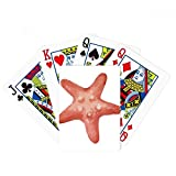 Starfish Marine Life Red Illustration Poker Playing Card Tabletop Board Game Gift