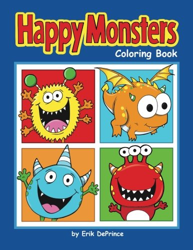 Happy Monsters Coloring Book -
