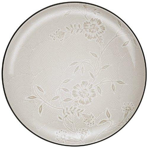Noritake Colorwave Bloom Round Platter, 12-Inch, Graphite (Platter Stoneware Noritake)