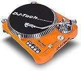 DJTECH Dj Tech SL1300MK6USB-ORA Direct Drive Turntable, Orange