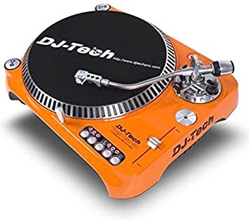 Superior Dj Tech SL1300MK6USB ORA Direct Drive DJ Turntable, Orange