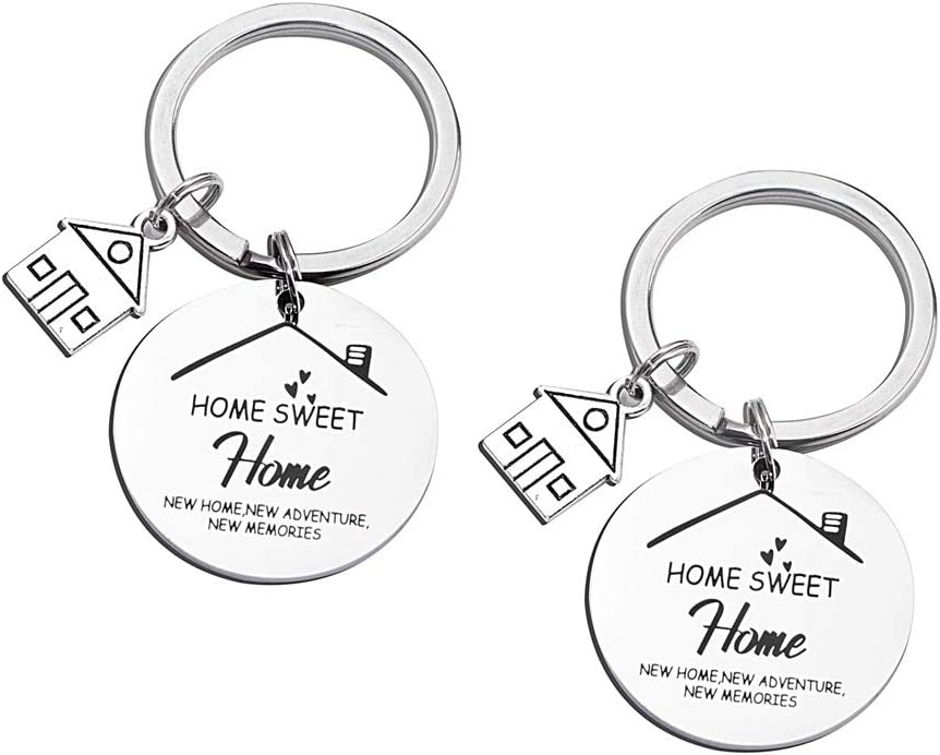 FY New Home Keychain First Home Gift New House Keychain Housewarming Realtor Closing Gifts (2 Pack) (Sweet Home)