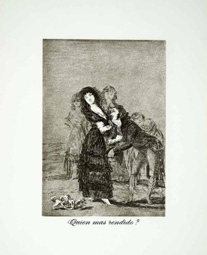 1962 Rotogravure Quien Rendido Bored Figures Francisco Goya Dog Animal Spanish - Original Rotogravure from PeriodPaper LLC-Collectible Original Print Archive