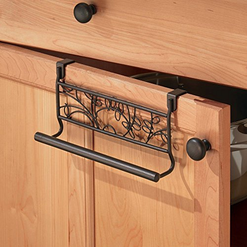 InterDesign Twigz Over-the-Cabinet Kitchen Dish Towel Bar