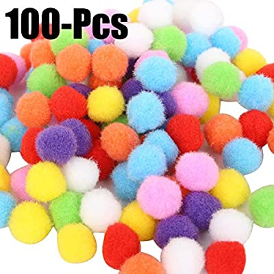 Pom Poms Set Creative Assorted Colors Pom Pom Balls Craft Decorations for DIY Craft Making: Everything Else