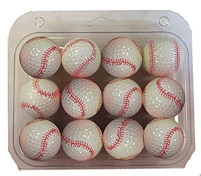 GBM Golf Baseball Golf Ball 12 Pack
