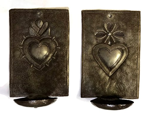 Metal Heart Wall Sconce Candle Holder,