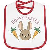 Baby's First Hoppy Easter: Infant Rabbit Skins Contrast Trim Bib